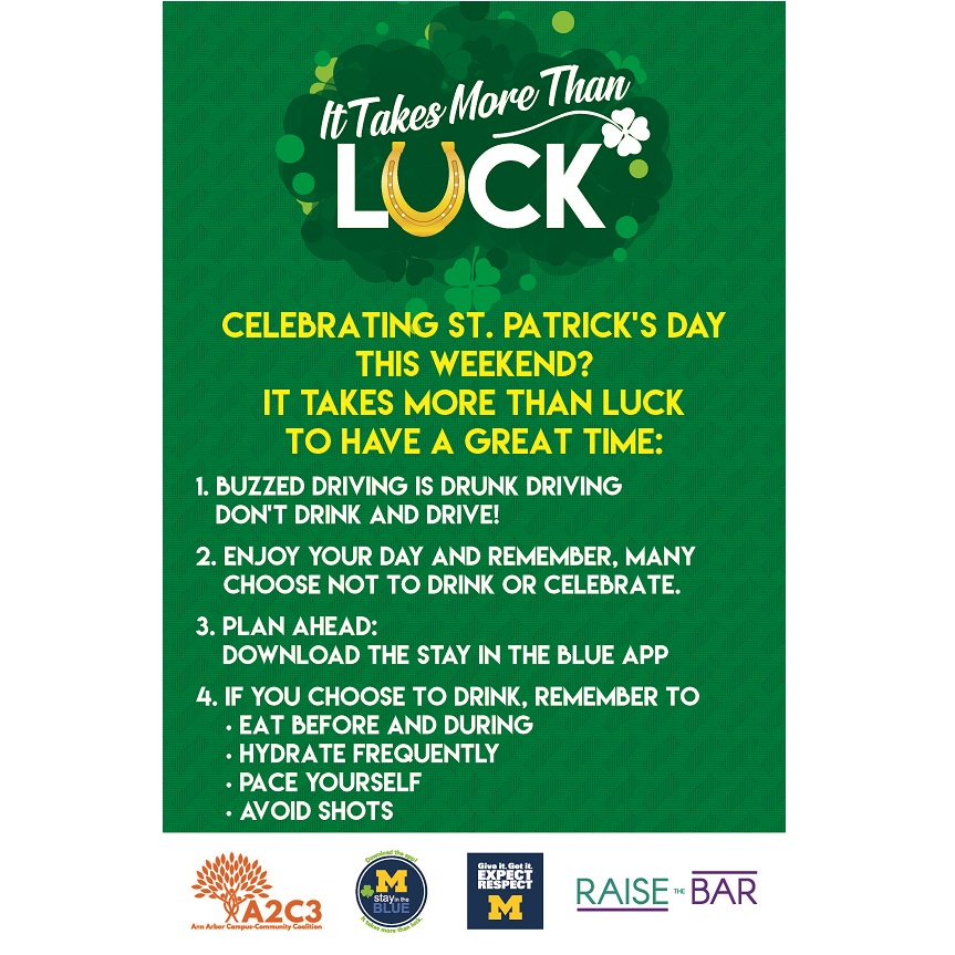 5f665e352 St. Patrick's Day Safety Tips   Dean of Students