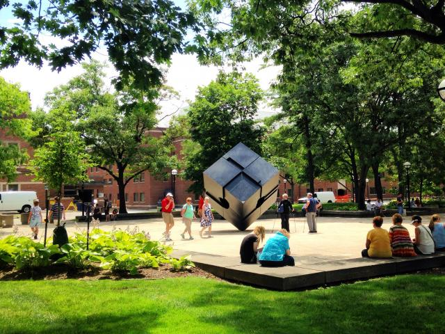 students spinning the cube
