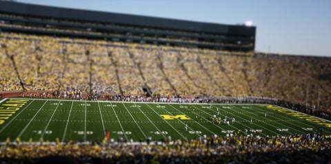 Michigan Stadium during a football game