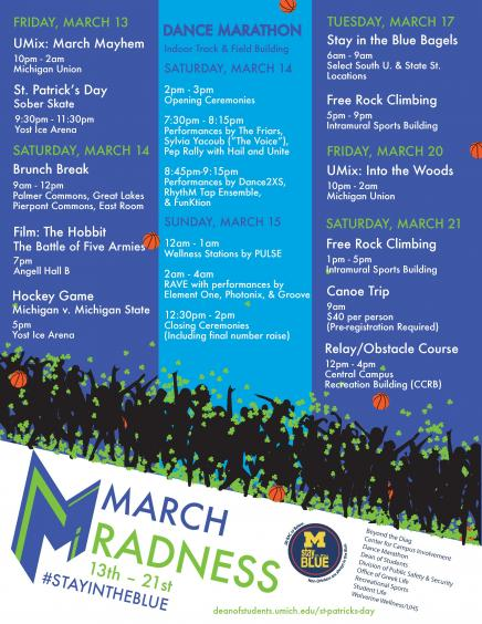 March Radness Events March 13th thru March 21st